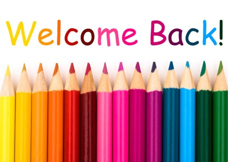 Welcome Back (rainbow pencils)
