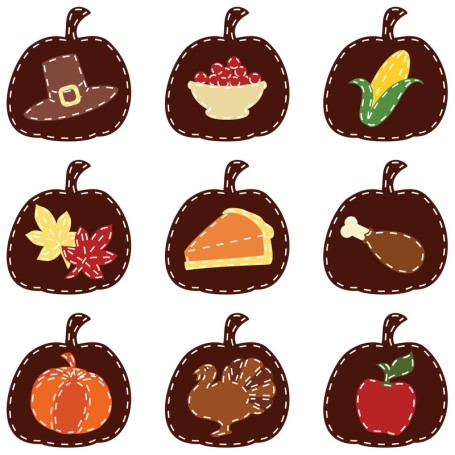 CAMEOS of thanksgiving foods