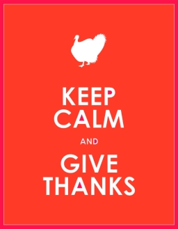 KEEP CALM & GIVE THANKS (orange)